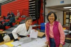 Yumi Nakamura (l) and Pat Olson, administrators extraordinaire.