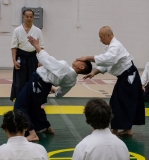 Sensei demonstrates with Vu X Ha