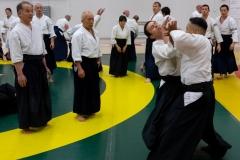 Sensei observes practice.
