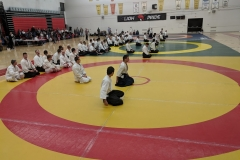 A total of 23 yudansha examinations were conducted on Saturday by Osawa-shihan and the CAF Examinations Committee.